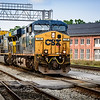 CSX ES44AC No 728 leading car transporters, Martinsburg, West Virginia