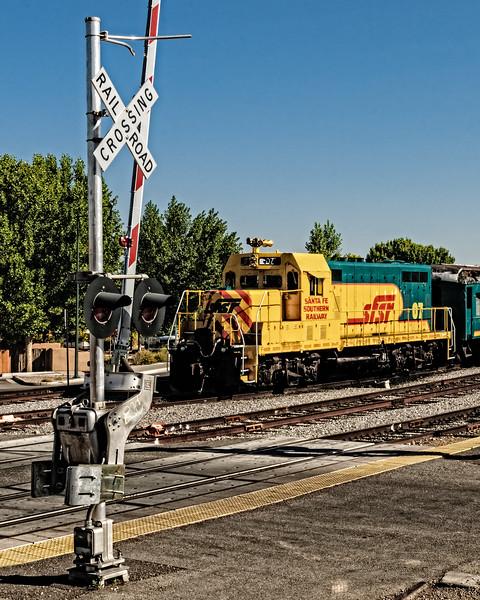 Santa Fe Southern's ex-ATSF GP7, Santa Fe Train Depot, The Railyard, Santa Fe, New Mexico