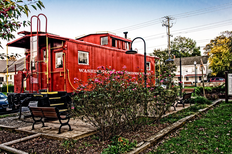 Washington & Old Dominion Caboose, Centennial Park, Church Street, Vienna, Virginia
