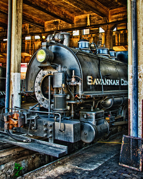 Savannah Central 0-4-0T tank engine, Roundhouse Railroad Museum, Savannah, Georgia