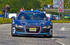 Audi R8 V10 at the Gumball 3000 Rally near Prestwick - 8 June 2014