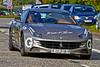 Team 55 from Dubai in their Ferrari FF at the Gumball 3000 Rally near Prestwick - 8 June 2014