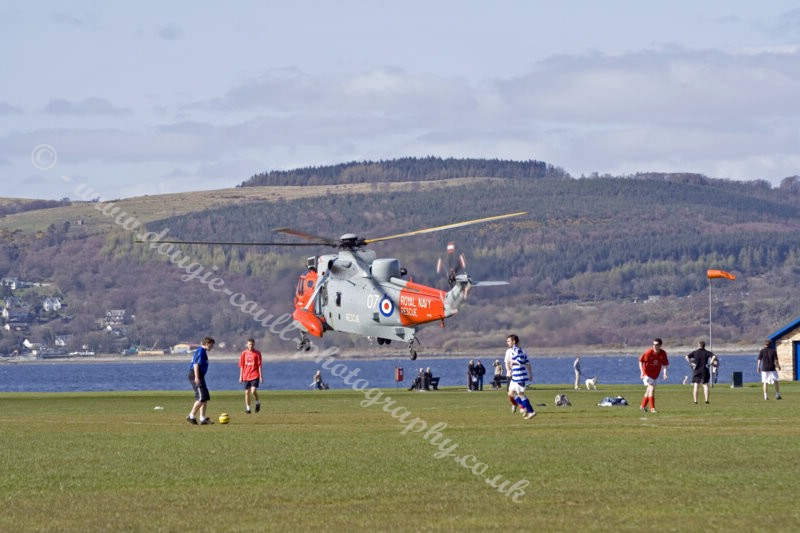 Rescue 177 at Battery Park, Greenock