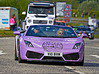 Lamborghini Gallardo at the Gumball 3000 Rally near Prestwick - 8 June 2014