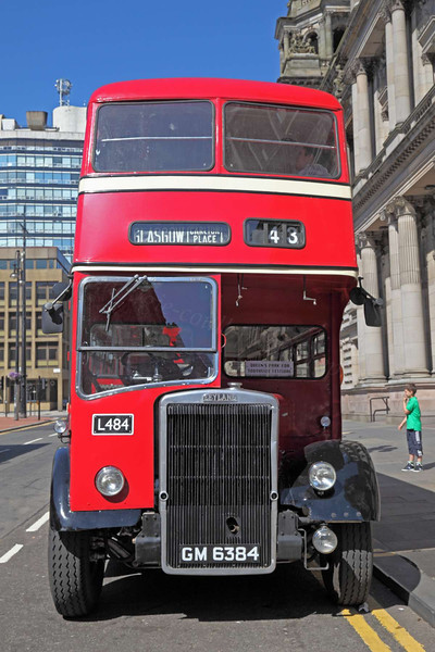 1954 Leyland Titan Double Decker Bus - George Square, Glasgow - 26 May 2012