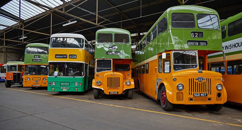 Vintage Buses at Bridgeton Bus Garage - 11 October 2015