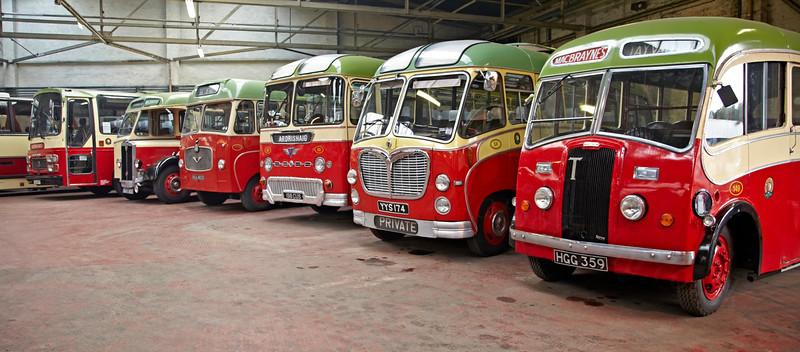 Vintage MacBraynes Bus Fleet - Bridgeton Bus Garage - 14 October 2012
