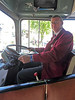 Vintage Bus with Mark at the Wheel - Glasgow - 26 May 2012