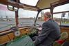 MacBrayne Vintage Bus Departing Riverside Museum - 5 April 2014