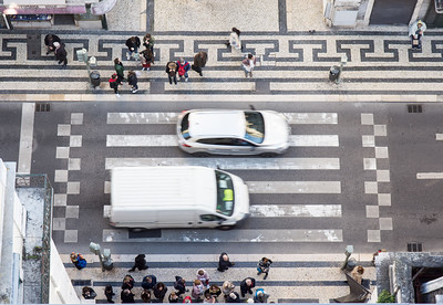 Pedestrian crossing in Lisbon