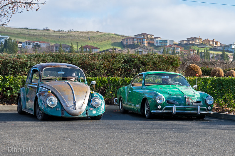 VW Bug and Karmann Ghia