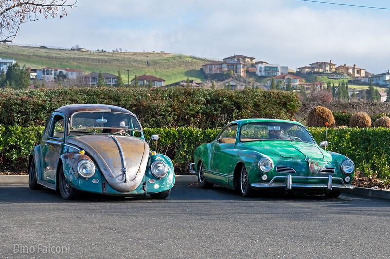 VW Bug and Karmann Ghia