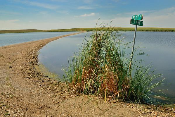 A Road Re-Emerges in North Dakota