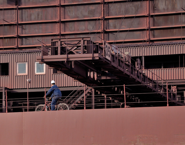 Biking Along the Deck