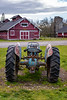 Tractor by the Barns