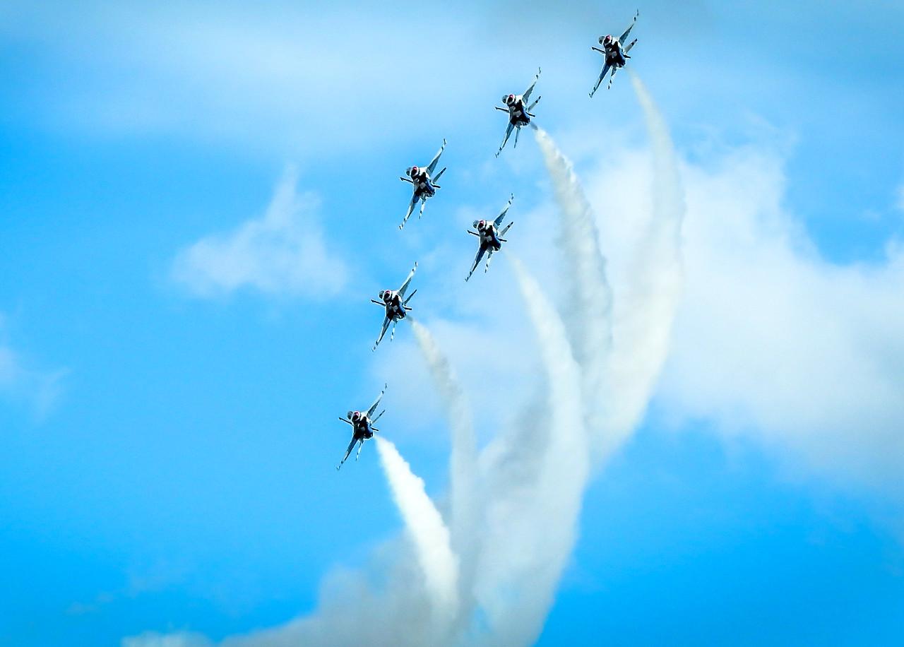 Thunderbirds at JBLM McCord Air Force Base Tacoma Washington