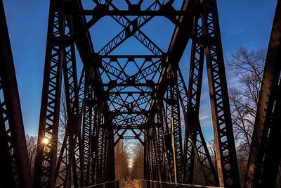 Sun Rising Over Old Bridge
