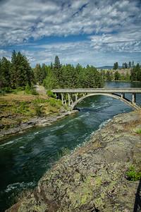 Arch Bridge Spokane River Portrait