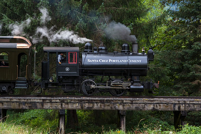Steam Engine Crossing Trestle July 2015