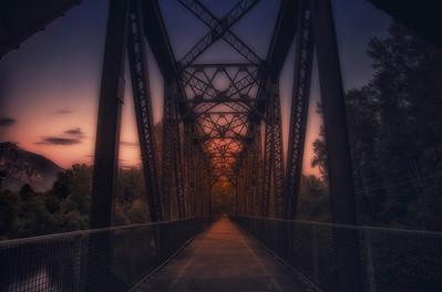 Golden Hour Sunset Bridge