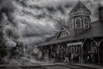 Santa Train Arriving Depot Sinister Effect