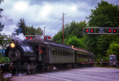 Steam Engine Crossing Hwy