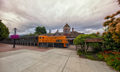 Snoqualmie Depot Early Morning Summer Wide Angle