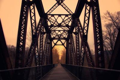 Hazy Sunset from Bridge