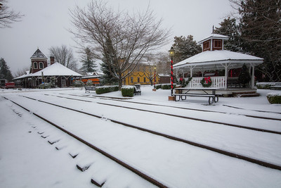 Snoqualmie Train Depot Christmas Day Snow