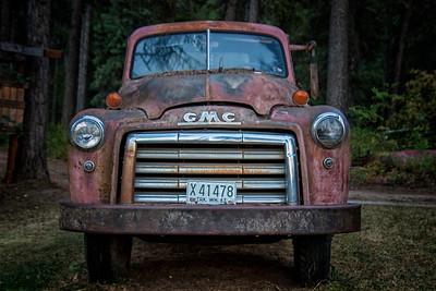 54 GMC Flatbed Truck Tolson Farm 8-10-18