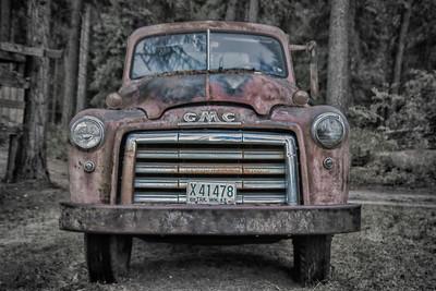 54 GMC Flatbed Truck HDR Tolson Farm 8-10-18