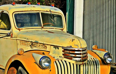 Rusty Yellow Truck