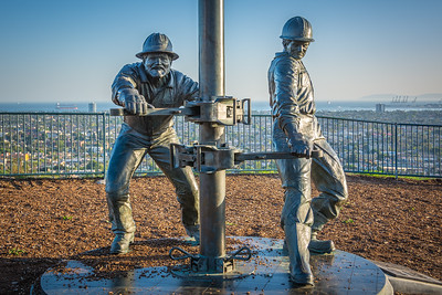 """Tribute to the Roughnecks""--Honoring the courageous men and women who have been a part of the oil fields of Signal Hill, a field proven to the one of the richest in North America."