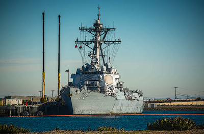 The William P. Lawrence (DDG 110) is the 60th Arleigh Burke-class guided-missile destroyer in the United States Navy. The ship is named for Vice Adm. William P. Lawrence, a fighter pilot, Vietnam War Prisoner of War, a U.S. Third Fleet commander, a Chief of Naval Personnel, and a Superintendent of the U.S. Naval Academy.  April 17, 2010 PCU William P. Lawrence was christened during a 10 a.m. CST ceremony at Northrop Grumman Shipbuilding in Pascagoula, Miss. Diane Lawrence, widow of the ship's namesake, and Vice Adm. Lawrence's daughters, Laurie Lawrence and retired Capt. Wendy Lawrence, served as sponsors of the ship.