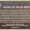 The Atchison, Topeka & Santa Fe Railroad reached Orange in 1887, offering both passenger as well as freight service.  The original depot, still in existence, was built in 1891, followed by a newer depot which was constructed in 1938.  The railroad helped the local citrus industry thrive, allowing fresh fruit to be shipped throughout the U.S.  The Santa Fe Depot closed in 1970 and was acquired by the City of Orange.  Currently used for passenger connections, Metrolink travels as far south as San Diego and as far north as connections in Los Angeles.