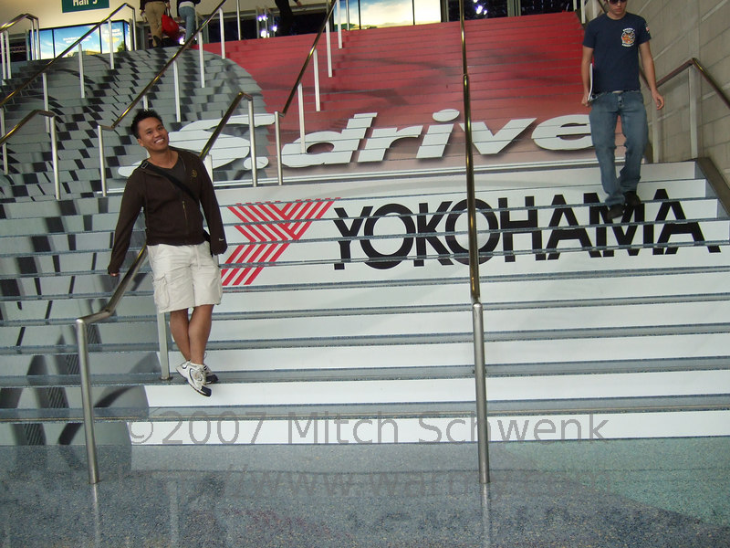 Ken at the entrance to the 2006 LA auto show.