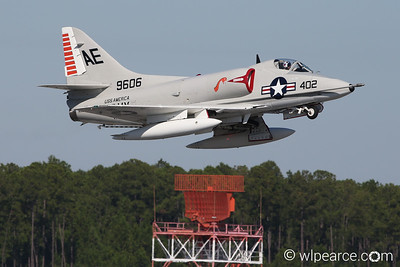 A-4 Skyhawk haulin' down the runway.