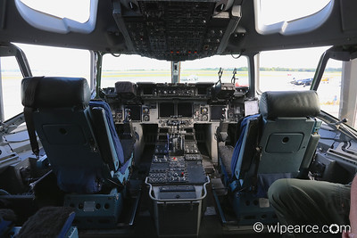 Cockpit of the C-17A Cargo Plane.  Combined 315th and 437th Air Wing, Charleston, SC.