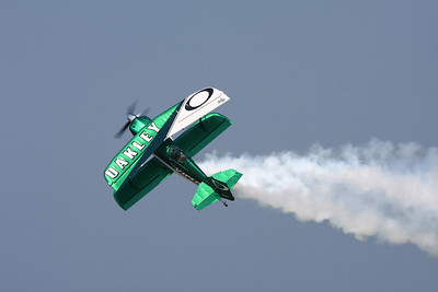 CLEVELAND, OHIO - SEPT. 3: Oakley acrobatic stunt plane at the Cleveland National Airshow on Sept. 3, 2011 in Cleveland, Ohio.