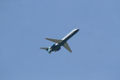 Airtran Boeing 767 departing Akron-Canton Airport(CAK)