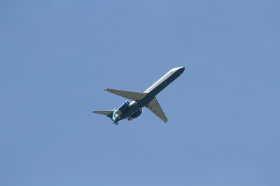 Airtran Boeing 767 departing Akron-Canton Airport(CAK)
