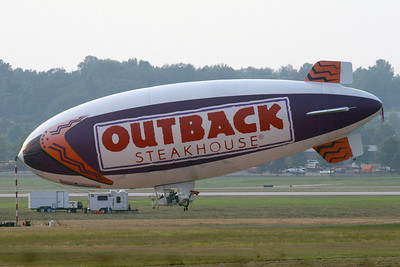 Outback Blimp docked in Akron, Ohio
