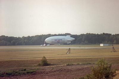 Diet Pepsi blimp at Akron Canton (CAK) Airport in 1988