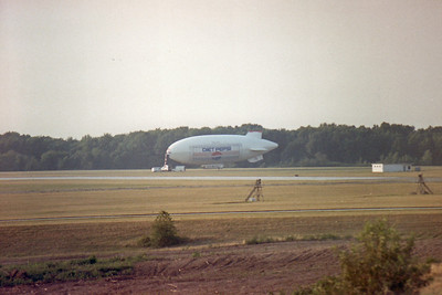 Diet Pepsi blimp at Akron Canton (CAK) Airport in 1988