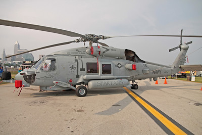 A Sikorsky SH-60 Seahawk helicopter at the Cleveland National Airshow on Sept. 6, 2009 in Cleveland, Ohio.