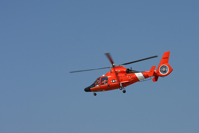 CLEVELAND, OHIO - SEPT. 3: U.S. Coast Guard rescue helicopter at the Cleveland National Airshow on Sept. 3, 2011 in Cleveland, Ohio.