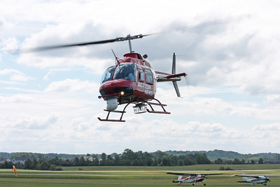 STOW, OHIO - JUNE 12: A Bell helicopter used by a television news crew. Taken at the Kent State University Airport Airshow on June 12, 2009.