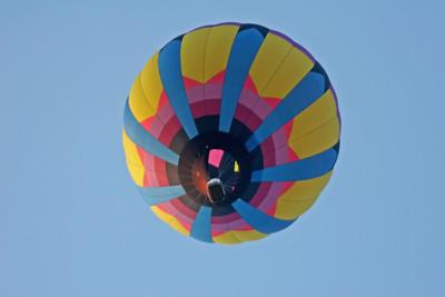 Looking Up at Hot Air Balloon