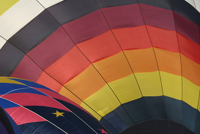 Hot Air Balloon being inflated, close up of balloon