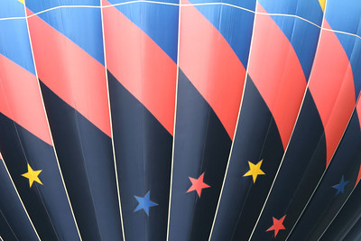close up of design on a hot air balloon